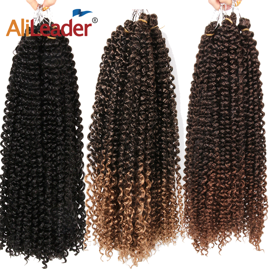 AliLeader 30 Strands Afro Kinky Curly Hair 18 Inch Long Bohemian Crochet Braiding Synthetic Passion Twist Natural Hair Extension