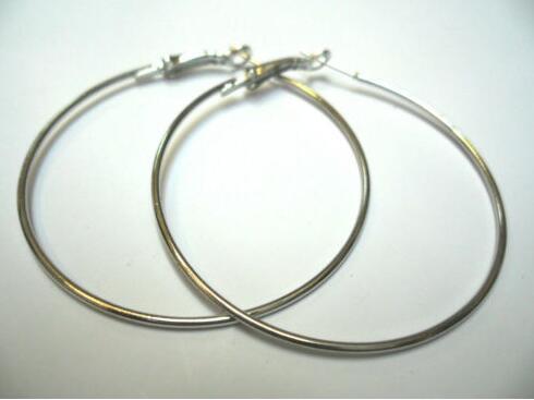 Hot Sale Gold Silver Hoop Earrings Big Smooth Circle Earrings Women Basketball Brand Loop Earrings For Jewelry Jewelry Gift B215