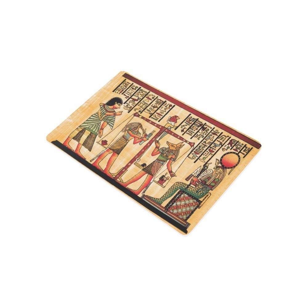Antique Egyptian Papyrus Hieroglyph Anti-slip Door Mat Home Decor, Ancient Egypt Indoor Outdoor Entrance Doormat Rubber