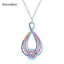 ROLILASON 6.3g 925 sterling silver high-end necklace pendant designed for women SP65