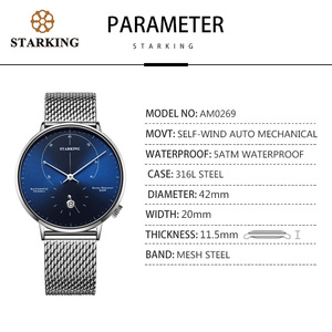 Image 5 - STARKING นาฬิกาอัตโนมัติ Relogio Masculino Self WIND 28800 Beats Mechanical Movement นาฬิกาข้อมือผู้ชายชายนาฬิกา 5ATM AM0269