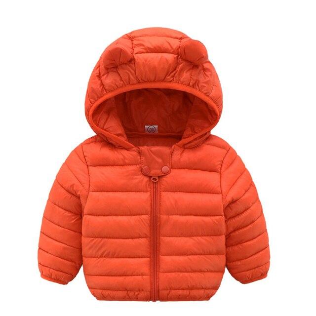 1ea32dffa Bebé chaqueta 2018 otoño chaqueta de invierno para las niñas cabritos de la  capa caliente con