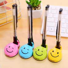 Creative Cute smiley face Gel pen can be pasted desktop Office pen signing pen school stationery simbalion glass cling marker can be peeled off decorative pen tearable glass decorative pen creative diy graffiti pen sticky pen