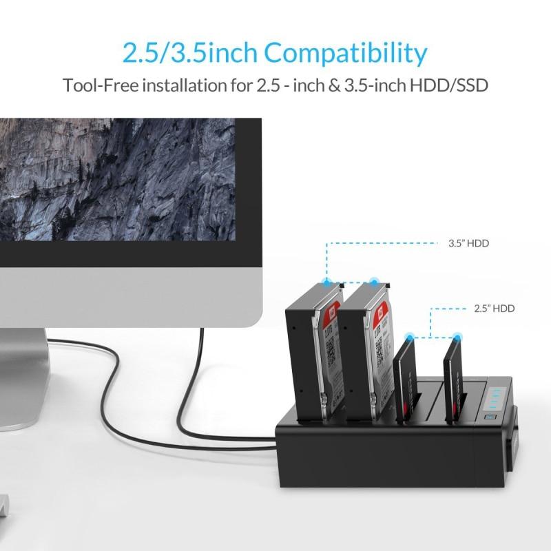 ORICO USB 3.0 to SATA 4 Bay გარე HDD - შემნახველი წყაროები - ფოტო 5