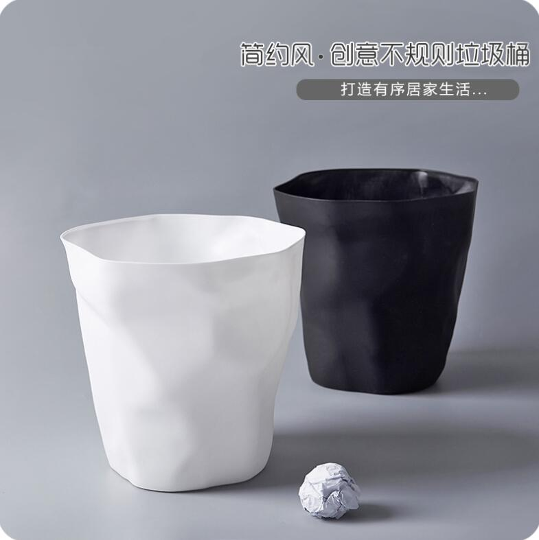 d17bb2838b Living Room Japanese Style Uncovered Trash Can Bedroom Large Dustbin  Bathroom Plastic Paper Rubbish Bin