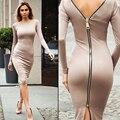 Sexy casual dress clube outono plus size mulheres roupas mulheres dress 2016 elegante bodycon senhoras soltos zíperes outono dress