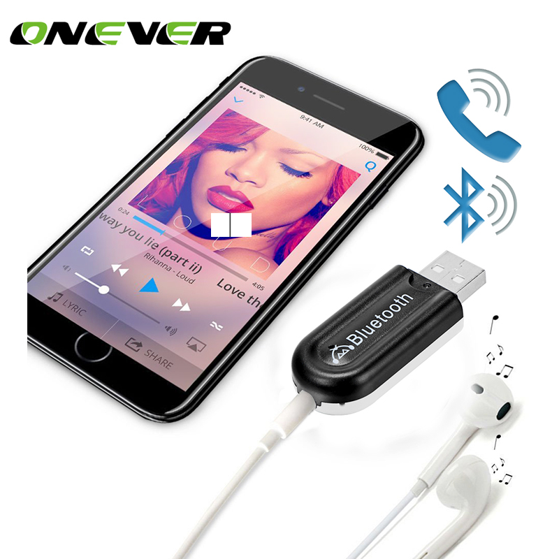 Usb Interface Bluetooth A2dp Music Streaming Adapter: Onever 2 In 1 Universal 3.5mm USB Car Kit Bluetooth