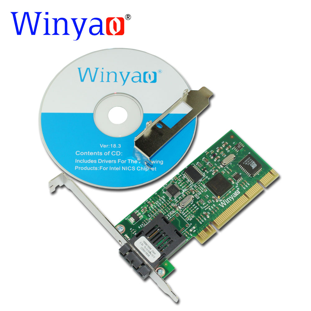 Winyao WY559FX-SC PCI 32Bit 100FX SC (1310nm 20KM) Desktop Fiber Ethernet Network Card Adapter -intel 82559 100Mbps NIC winyao wyi210f pci express x1 dual port 1000mbps sfp lc 850nm gigabit ethernet lan fiber server network card for intel i210 nic