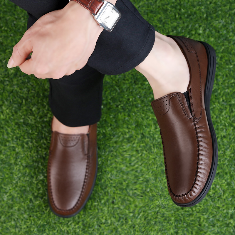Fashion shoes genuine leather loafers 2018 summer men's casual shoes - Men's Shoes - Photo 4