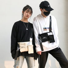 Shoulder bag male personality street hip hop couple backpack female 2019 new Korean fashion crossbody bag(China)