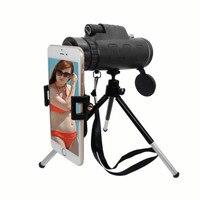 WRUMAVA Phone lens Kit 40*60 Zoom Telescope Lenses Stand Adapter Tripod Holder For Iphone 6S Plus Samsung Smartphone Lens Sets