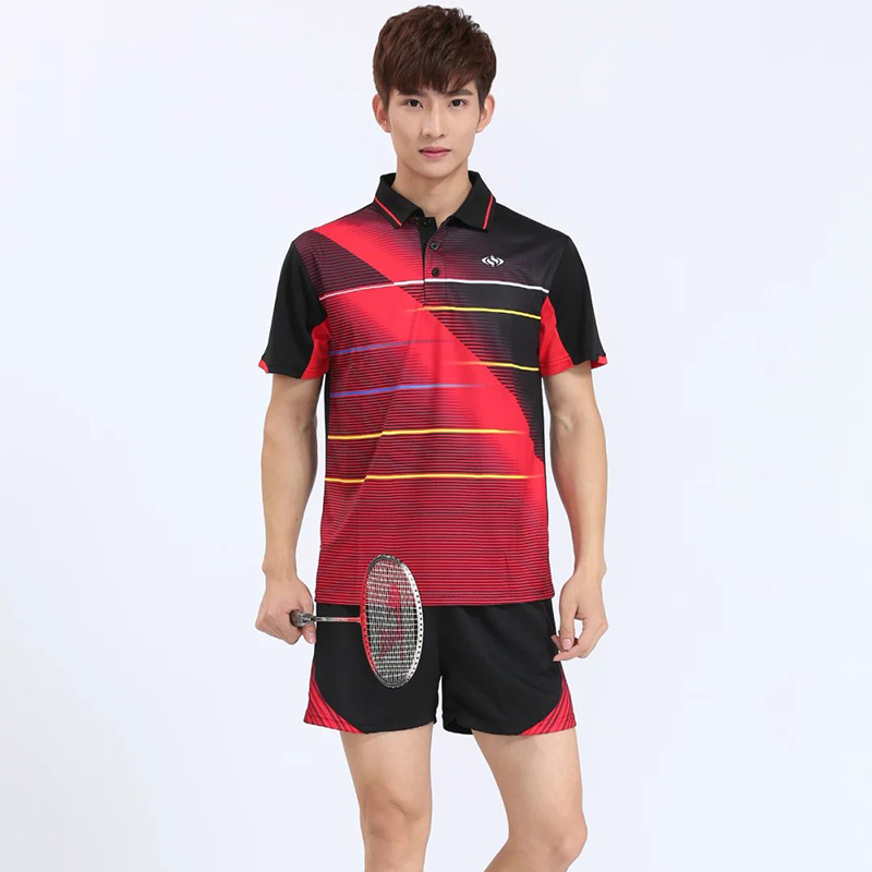 Badminton T shirts Men ,Quick Dry Sports Tennis wear dry-cool T-shirt ,Athletic Shirt Ta ...