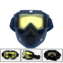 Tactical Full Face Mask Goggles Gel Blaster Paintball Protective Glasses Outdoor