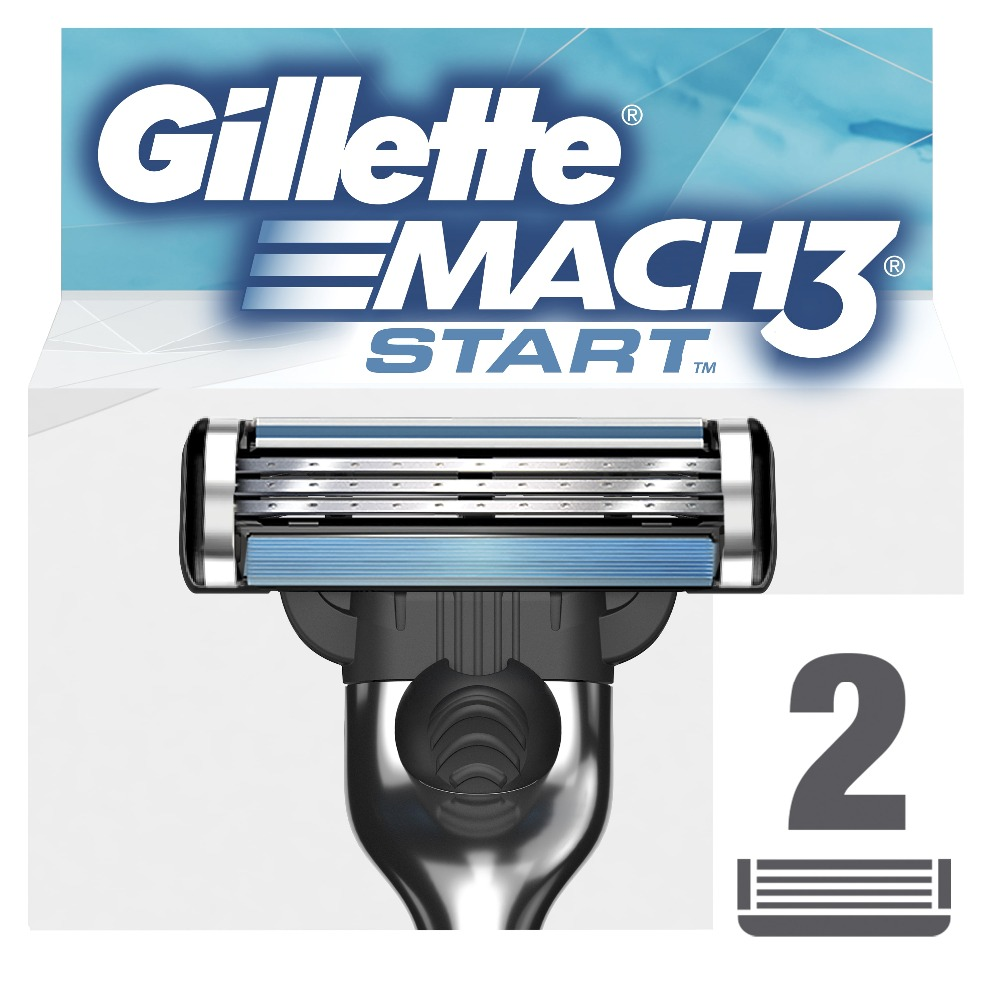 Replaceable Razor Blades for Men Gillette Mach 3 Start Blade shaving 2 pcs Cassettes Shaving  mak3 shaving cartridge mach3 gillette shaving razor blades for men blades 2