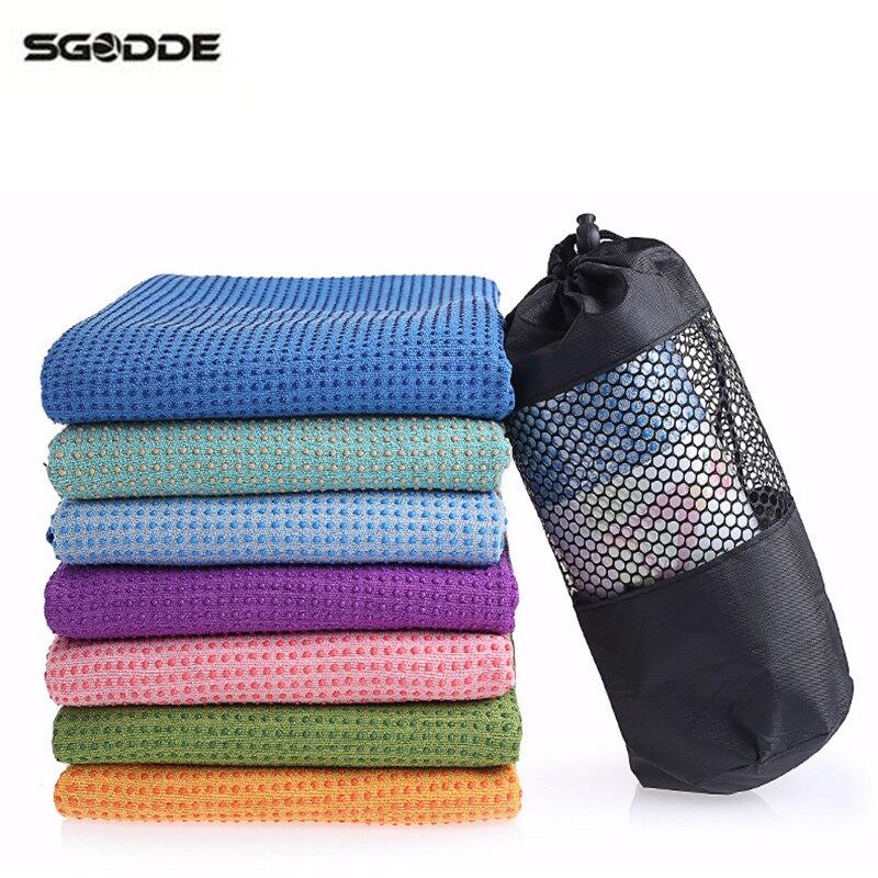 Travel Yoga Mat Or Towel: SGODDE 183cm* 61cm Soft Travel Sport Fitness Exercise Yoga