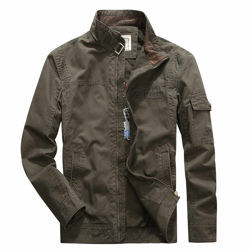 158a203964c New Arrival Stand Collar Military Men Jacket Brand AFS JEEP High Quality  Tactical Army Khaki Blue