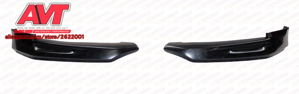 Fangs on front bumper and central insert for Lada Vesta 2015- car styling decoration protection bumper canines molding