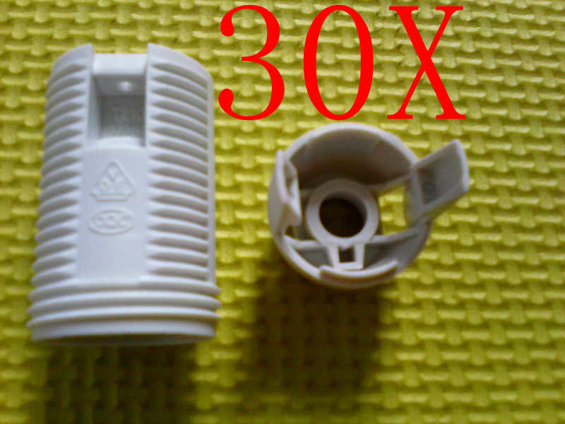 30pcs Led E14 Plastic Lamp Holder Converter Edison Screw Socket--thread Lamp Base-for LED lamp bulb free shipping