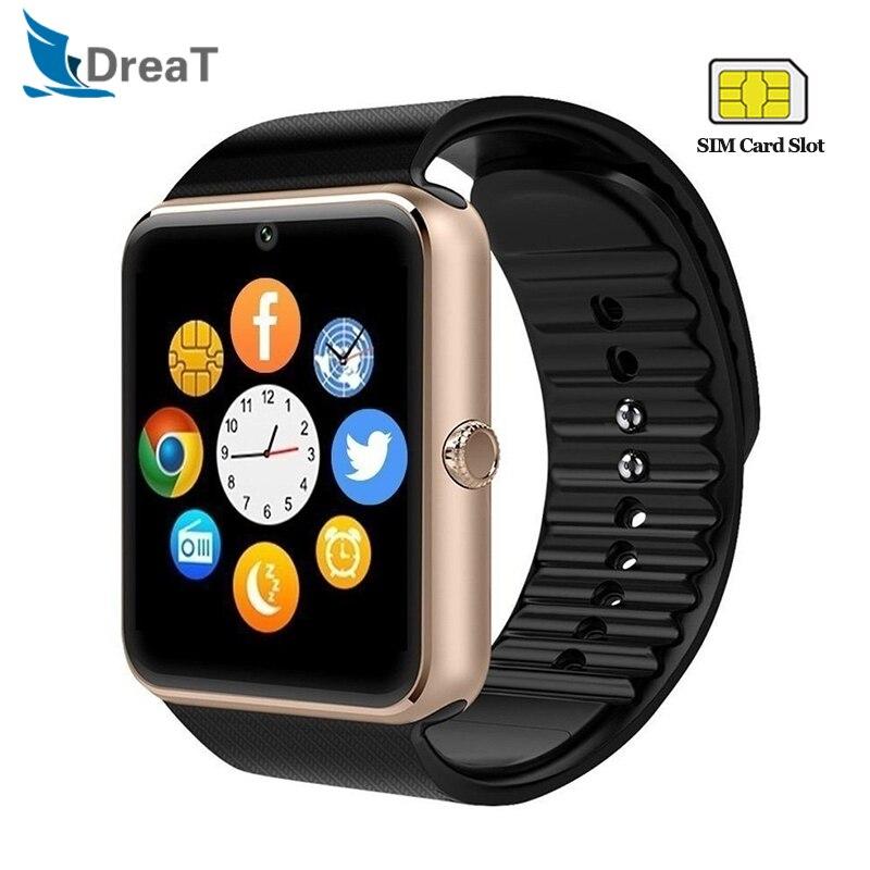 GT08 Smart Watch Touch Screen IP67 Waterproof Men Women Sport Pedometer Fitness Tracker Android Call font