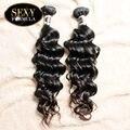 Sexy Hair Formula Envío Gratis Brasileño de la Virgen Del Pelo 2 unids Lote Donante Agua Armadura Del Pelo Humano de la Onda Natural Brasileña onda