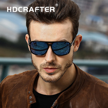 HDCRAFTER Classic HD Polarized Sunglasses Men Driving Brand Design Sun Glasses Man Mirror Retro High Quality Sunglass Eyewear
