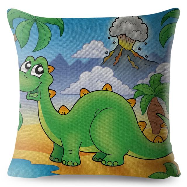 Cute Cartoon Dinosaurs Cushion Cover