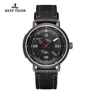 Image 5 - 2020 ريف النمر/RT تصميم جديد كل Blac ساعة يد بسيطة الرجال حزام من الجلد PVD مقاوم للماء الساعات العسكرية ساعات أوتوماتيكية RGA9055