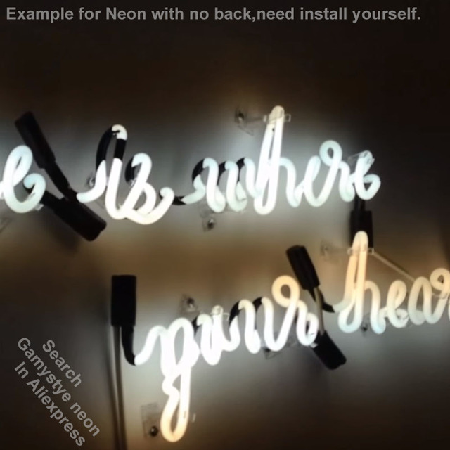 GIVE ME COFFEE AND NO ONE GET HURT neon Signs Real Glass Tube neon lights Recreation Home Wall Iconic Sign Neon Light Art Lamps 4