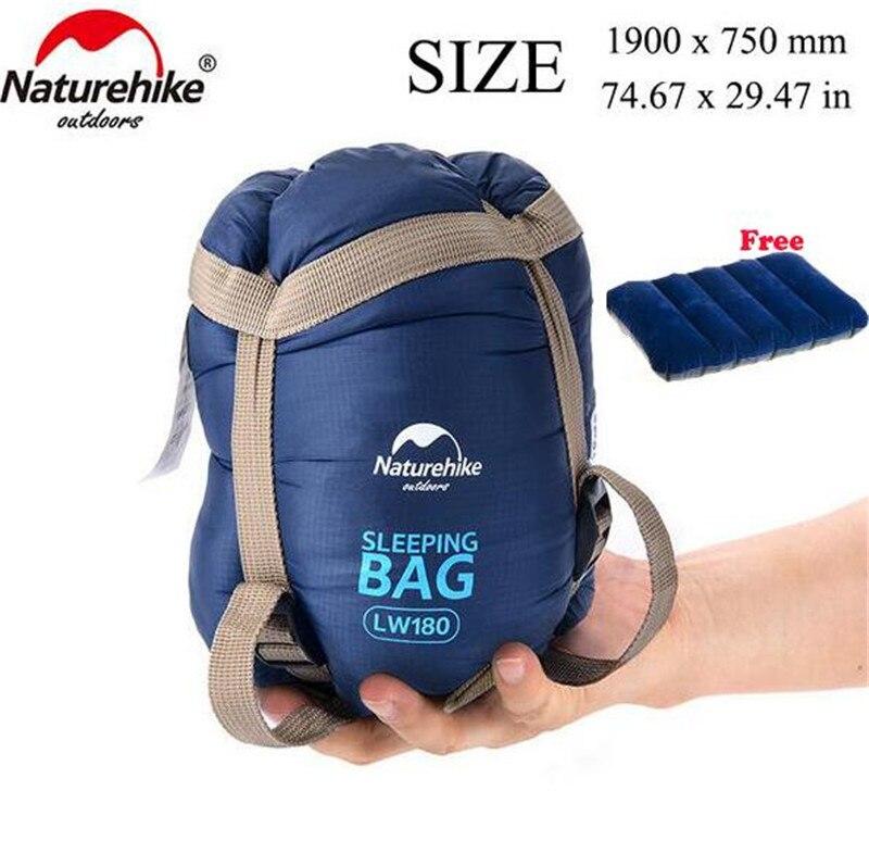 Naturehike splicing envelope saco de dormir ultraleve adulto portátil acampamento ao ar livre caminhadas sacos de dormir primavera outono 1.9*0.75m