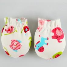 1 pair 0-6 monhs newborn mittens baby glove bite Natural cotton scratch gloves girl accessories stuff for newborns