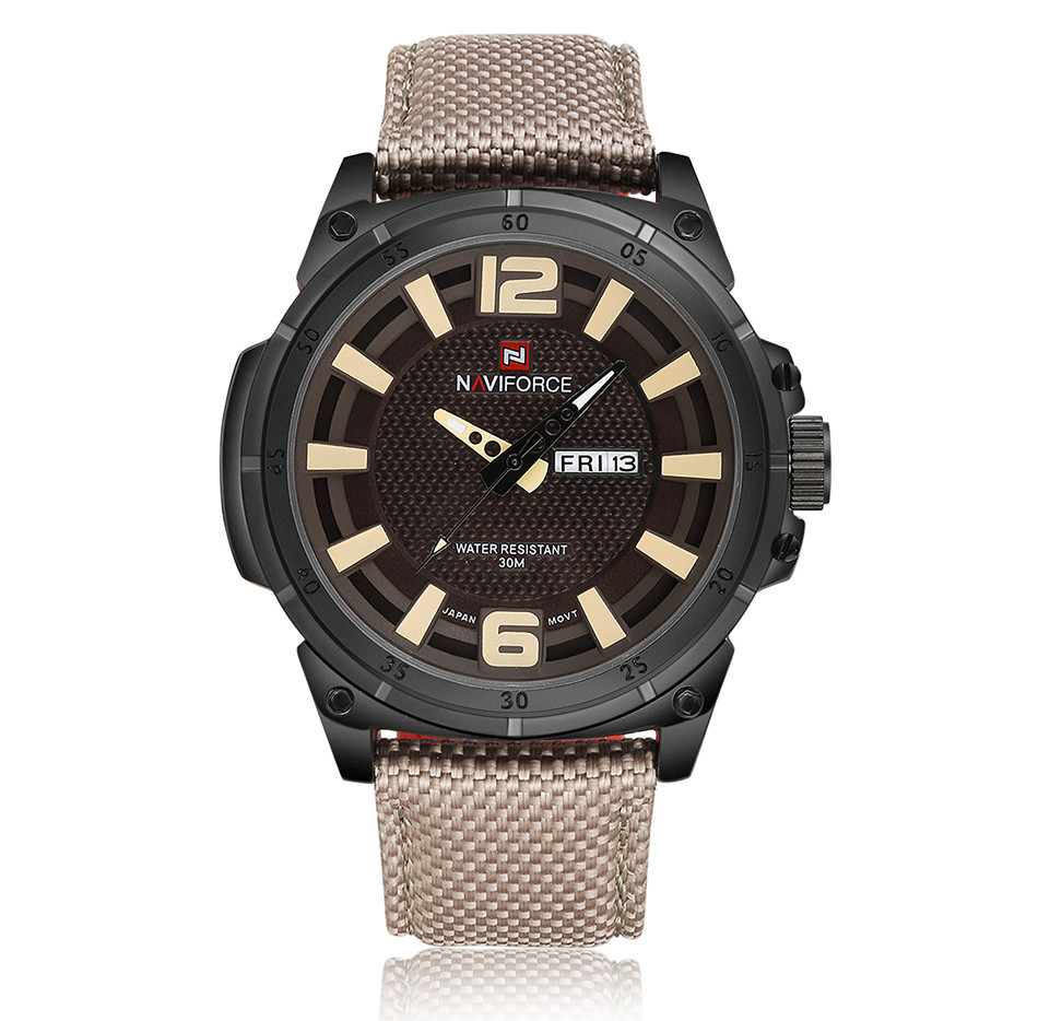 NAVIFORCE Top Brand Men Watches Army Military Nylon Band Quartz Watches Date Display Waterproof Male Clock Relogio Masculino Hot