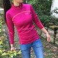 100% Австралия Мериносовой Шерсти Футболки женские, женщин Мериносовой Шерсти Рубашки, женская Шерсть Весна Рубашка, с длинным Рукавом, с YKK Молнии