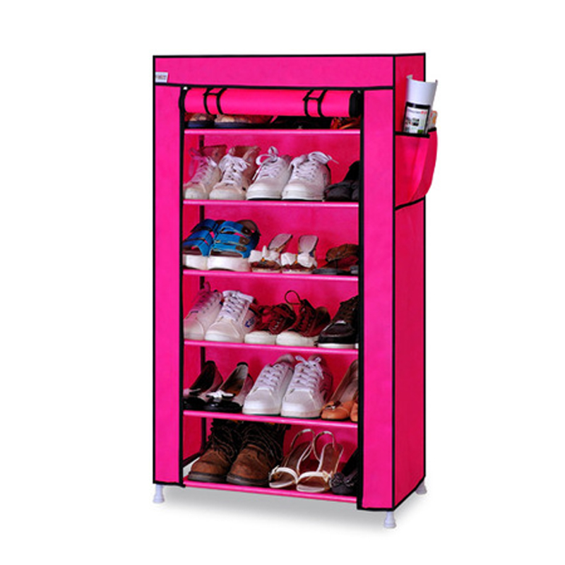 Image 4 - Thick Non woven Cloth Multi layers Shoe Rack Dustproof Waterproof Creative Shoes Cabinet  Shoes Storage Rack DIY Shoes Organizer-in Shoe Cabinets from Furniture