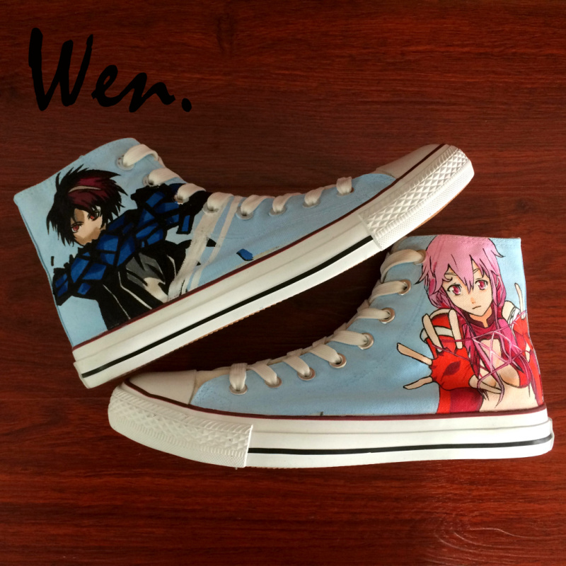 Wen High Top Sneakers Skateboard Design Hand Painted Canvas Upper Shoes Guilty Crown Animation Custom Unisex Trainers for Gifts Wen High Top Sneakers Skateboard Design Hand Painted Canvas Upper Shoes Guilty Crown Animation Custom Unisex Trainers for Gifts