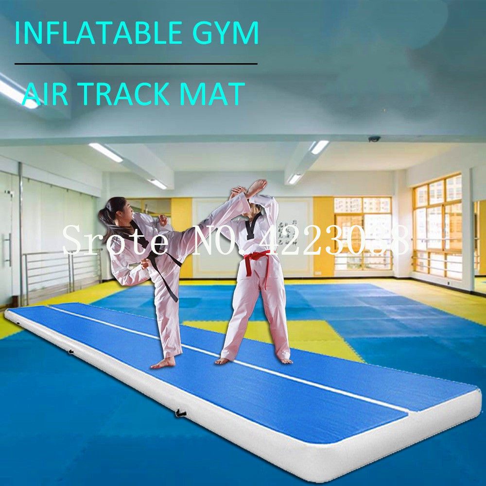 Free Shipping 0.9mm PVC 9*2*0.2m Air Track Inflatable Gymnastics Tumbling Air Track Mat with Electric Air PumpFree Shipping 0.9mm PVC 9*2*0.2m Air Track Inflatable Gymnastics Tumbling Air Track Mat with Electric Air Pump