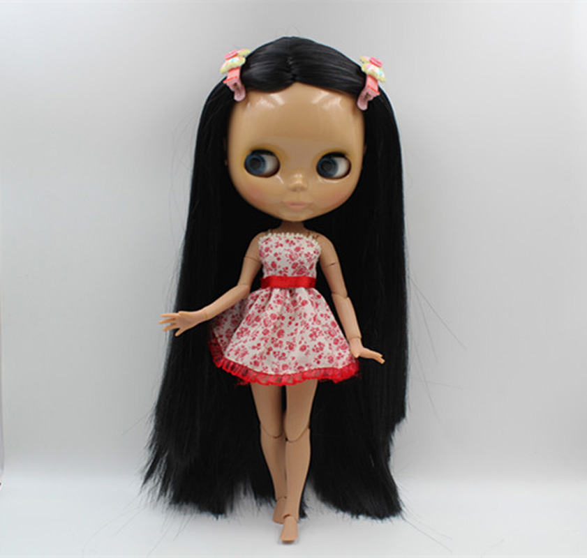 Free Shipping BJD joint RBL-391J DIY Nude Blyth doll birthday gift for girl 4 colour big eyes dolls with beautiful Hair cute toy free shipping bjd joint rbl 415j diy nude blyth doll birthday gift for girl 4 colour big eyes dolls with beautiful hair cute toy