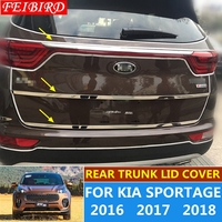 STAINLESS STEEL For KIA Sportage 2016 2017 2018 Rear Trunk Lid Cover Tailgate Trim Hatch Back Door Handle Molding Boot Garnish