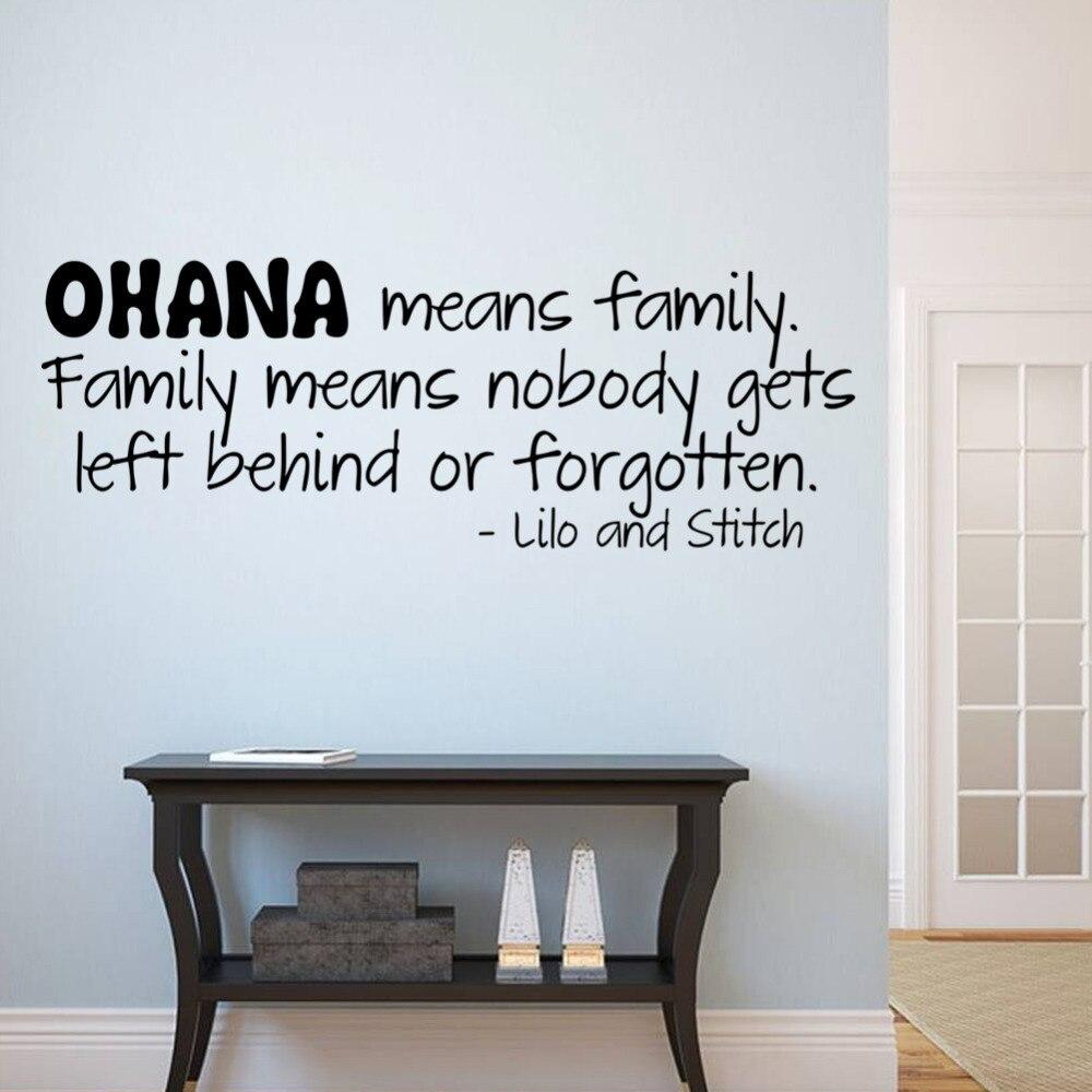 stickers wall art decals to decor aliexpress com fashion ohana means family cartoon design - Design Stickers For Walls