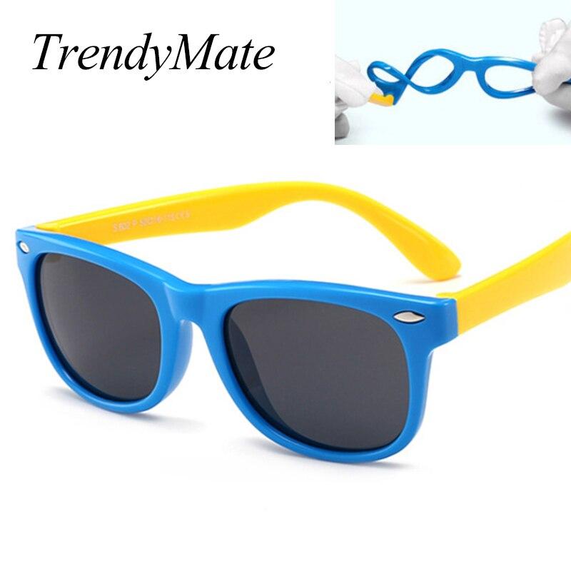 TR90 Crianças Óculos Polarizados Criança da Segurança Do Bebê Flexível  Óculos de Sol UV400 Óculos Shades Oculos de sol Infantis de Alta Qualit 1102 04e86f7934