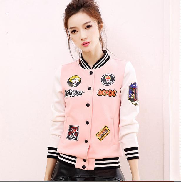 Popular Pink Varsity Jacket-Buy Cheap Pink Varsity Jacket lots ...