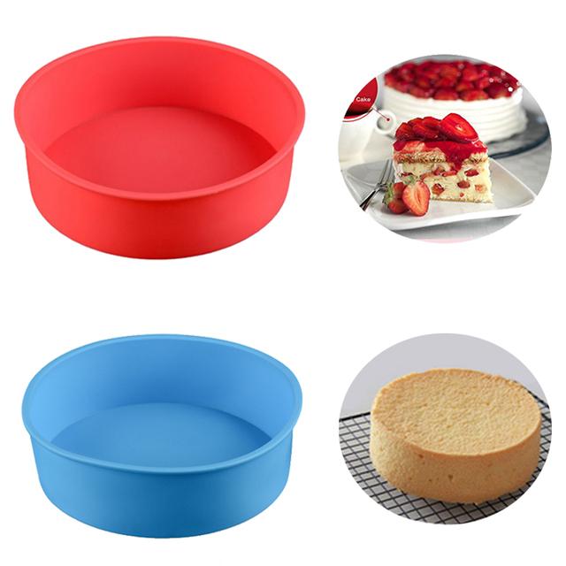 IVYSHION Kitchen Bakeware Tools Round Silicone Cake Moulds DIY Desserts Baking Mold Mousse Cake Moulds Baking Pan For Birthday