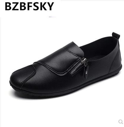 men's moccasins driving loafers leather casual patchwork