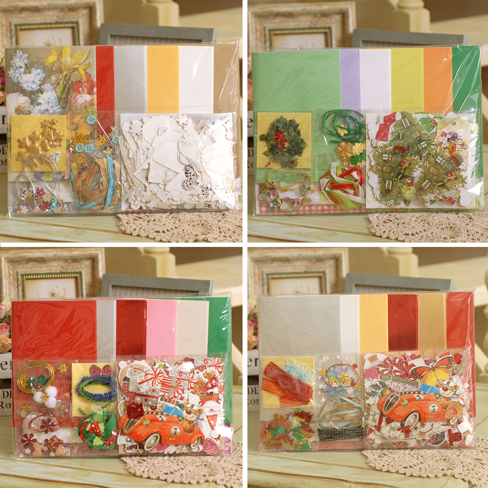 18 cards+envelopes,Handmade DIY Holiday Card Making For Kids,Merry ...