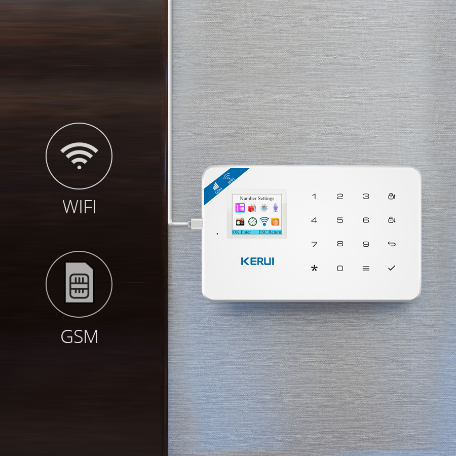 Image 2 - Original KERUI WIFI GSM Burglar Security Alarm System SMS APP Control Home PIR Motion detector Door Sensor Alarm Detector Alarm-in Alarm System Kits from Security & Protection
