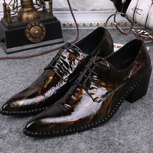 New 2017 Oxford Shoes For Men Dress Shoes Leather Office Form Shoes Summer Height Increasing Zapatos Hombre Black Big Size 38-46