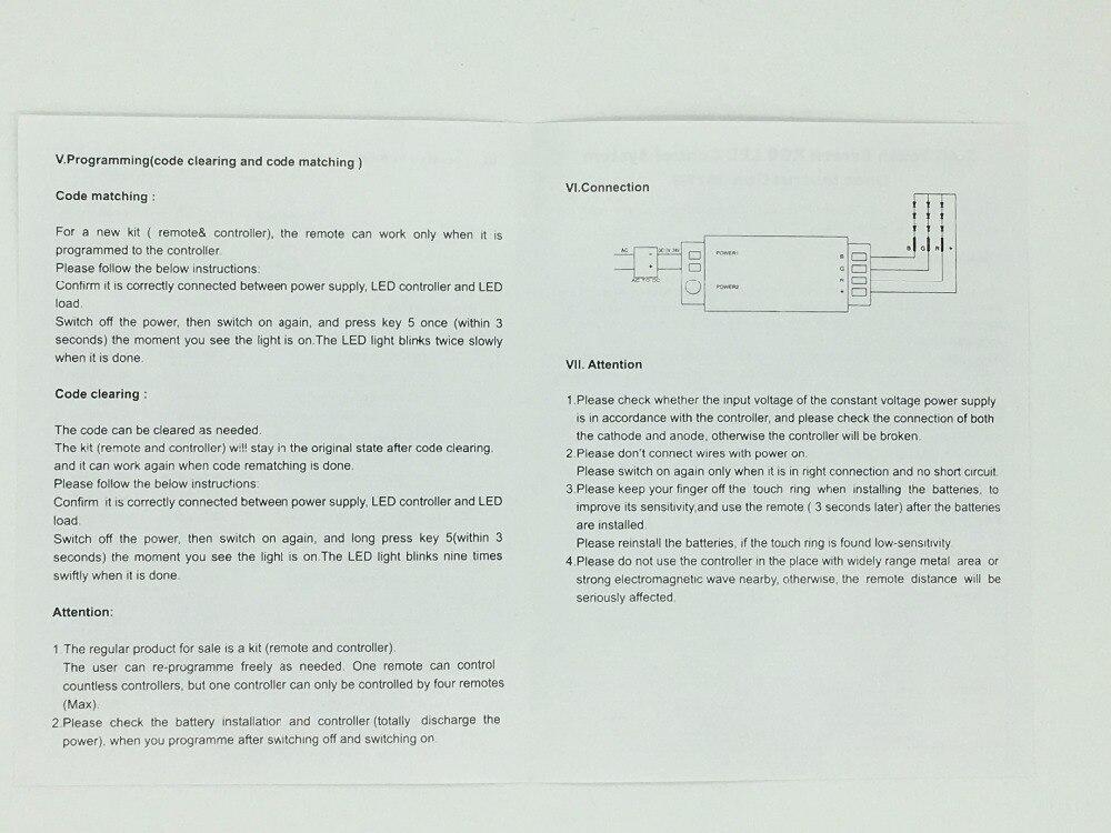 GUXEN DC12-24V RGB/RGBW 2,4G RF Touchscreen Remotefor für 5050/3528 ...