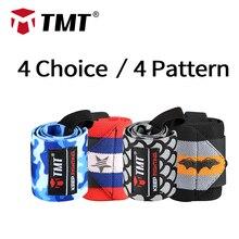 TMT cinturino da polso sollevamento pesi avvolgimenti a mano manubrio Crossfit Powerlifting supporto per polso Sport polsino fasciatura allenamento sicurezza