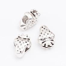 20pcs Strawberry Scattered beads Tibetan silver beads jewelry alloy beads fit Chamilia bracelet DIY js2089 9 14 mm chamilia diy b10 pandora