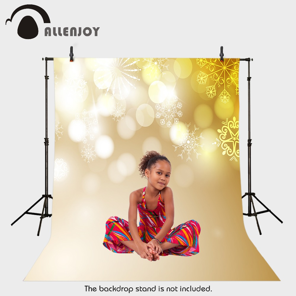 Allenjoy vinyl photography backdrop Christmas snow blur children's background for photo shoots fabric