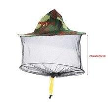 Против насекомых, комаров Шляпа От Насекомых Сетка рыболовные кепки голова чистая Защита для лица камуфляж Набор для кемпинга шляпа